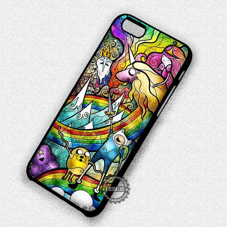 Adventure Time Stained Glass Finn Jake - iPhone 7 6 5 SE Cases & Covers