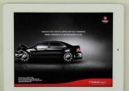 Genial, anúncio do Bradesco no iPad faz você bater o carro. - criação AlmapBBDO
