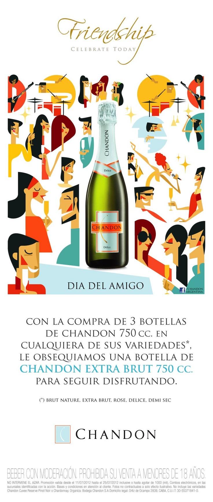 Promoción Chandon 3+1 por el Día del Amigo