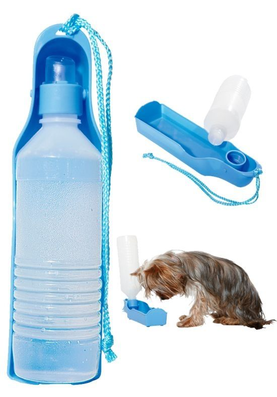 Vannflaske m-drikkeskål 500ml