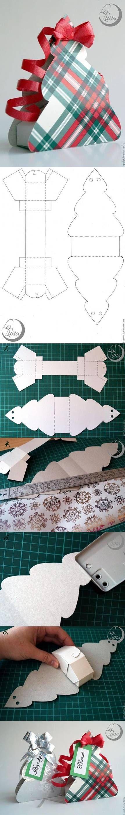 DIY Ornamento Gift Box fai da te Ornamento Gift Box da diyforever