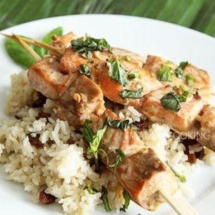 Brochette de saumon saveur asiatique