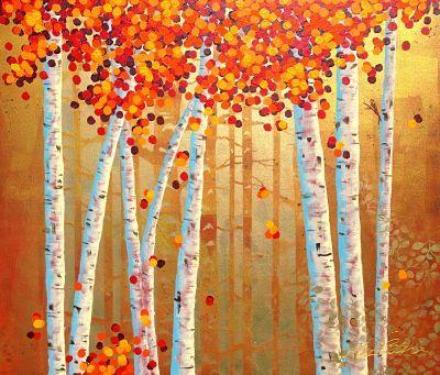 """Burgundy Forest"" by Cheryl Petersen www.tuskgallery.com.au"