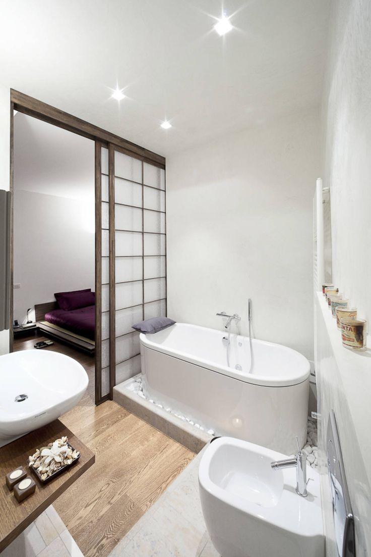 bagno : Minimalistische badkamers van 23bassi