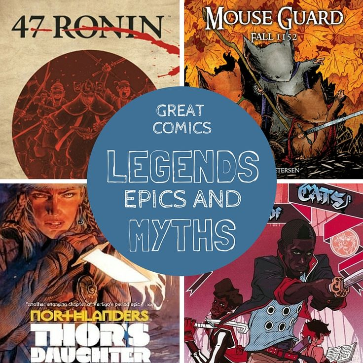 Epic Graphic Novels About Legends and Myths | a comics recommendation list from Planet Jinxatron