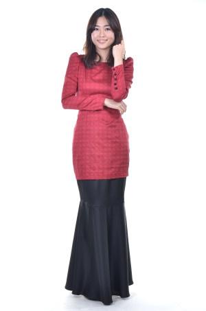 Red Modern Oriental Baju Kebaya