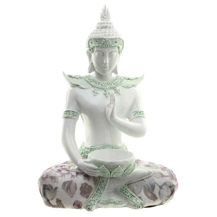 Decorative+Floral+Thai+Buddha+Meditation+Tealight+Holder