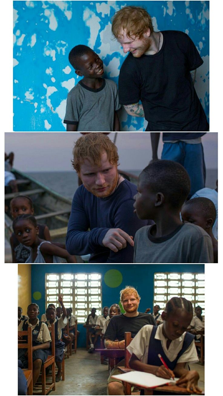 Ed in Liberia for Red Nose Day