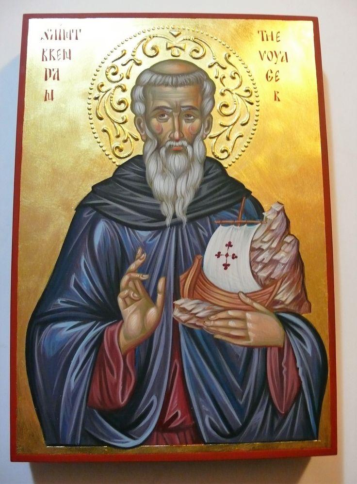 Orthodox St. Brendan Icon by Georgi Chimev