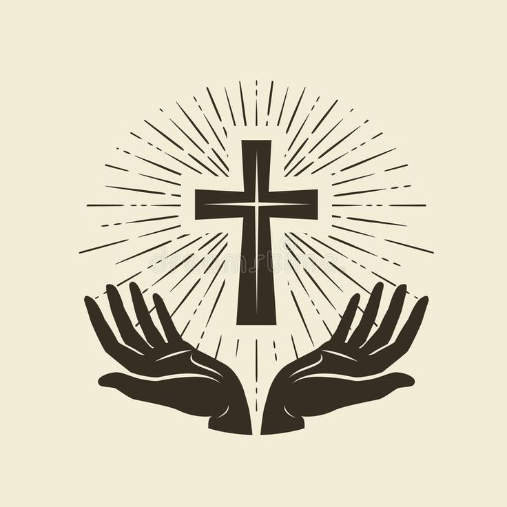 Christianity symbol of Jesus Christ. Cross, worship logo