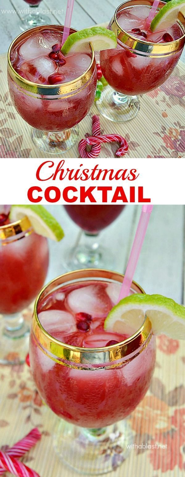 You have to try this Holiday Cocktail ~ delicious and refreshing ! #Christmas #Cocktail #FestiveSeason