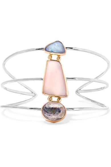 Melissa Joy Manning - 14-karat Gold, Sterling Silver And Opal Cuff - one size