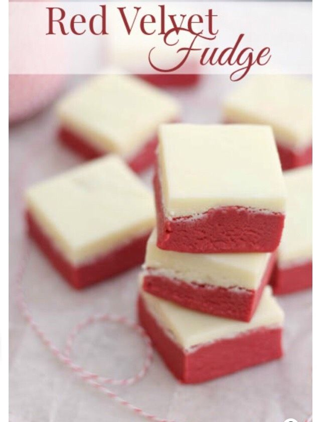 Red Velvet Fudge#Recipes#Trusper#Tip