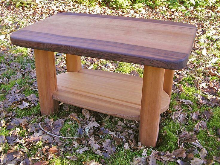 Hand split cedar table