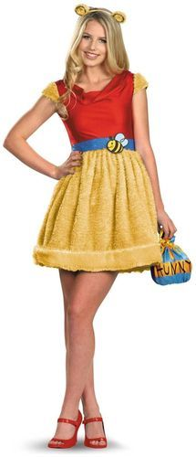 Cute Adorable Sassy Winnie The Pooh..! Brand New Sassy Winnie The Pooh Adult Women Halloween Costume by Disguise Inc