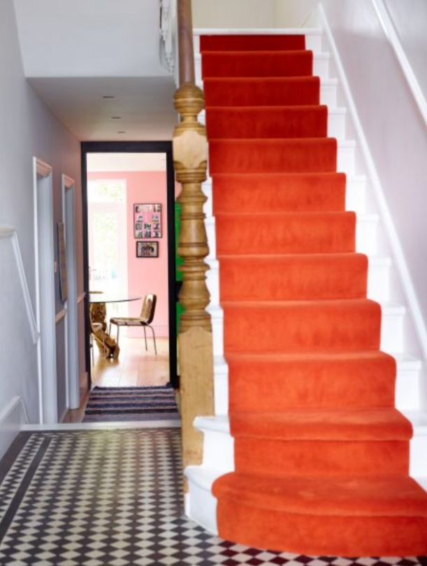 """This bright staircase is from our feature """"Dazzling Dresscode"""""""