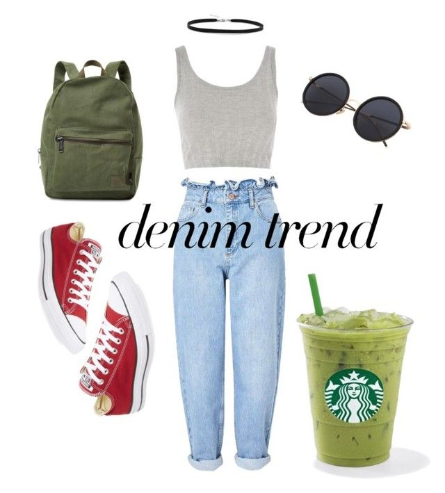 """Untitled #24"" by r-d-nich on Polyvore featuring Miss Selfridge, Topshop, Converse, Herschel Supply Co. and BillyTheTree"