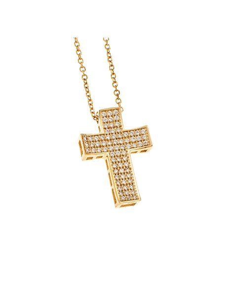 Σταυρός Βάπτισης Χρυσός 14Κ με Αλυσίδα Αναφορά 015617 Ένας κλασικός σταυρός ,βαπτιστικός για κορίτσι ή γυναίκα κατασκευασμένος από Χρυσό 14Κ σε κίτρινο χρώμα ο οποίος διακοσμείται με ημιπολύτιμες πέτρες (ζιργκόν) σε χρώμα λευκό και πλαισιώνεται με αλυσίδα Χρυσή14Κ.