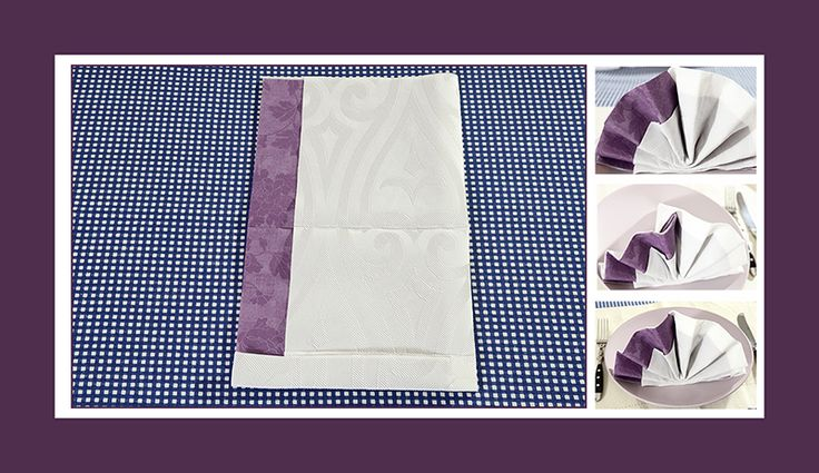 Servietten falten Fächer zwei Papierservietten