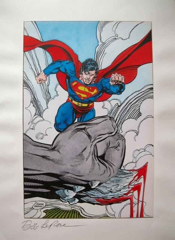 Superman v Doomsday Comic Art