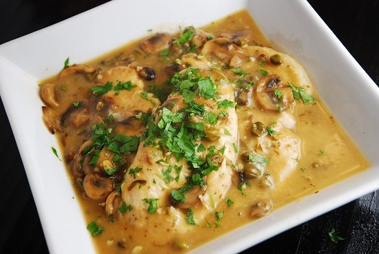 Chicken Piccata Recipe – 4 Points   - LaaLoosh.   More like pasta houses's chicken ignatio to us. I omitted capers and would use half the lemon juice.  I also added peas and put over a small helping of rigatoni noodles.