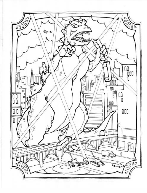 cool godzilla coloring pages picture all for you wallpaper site