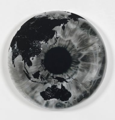 Map of Where you can't see the Stars. (The Inner Eye. Asia 30 August 2013) - Marc Quinn - 2013 - 73843 oil on canvas