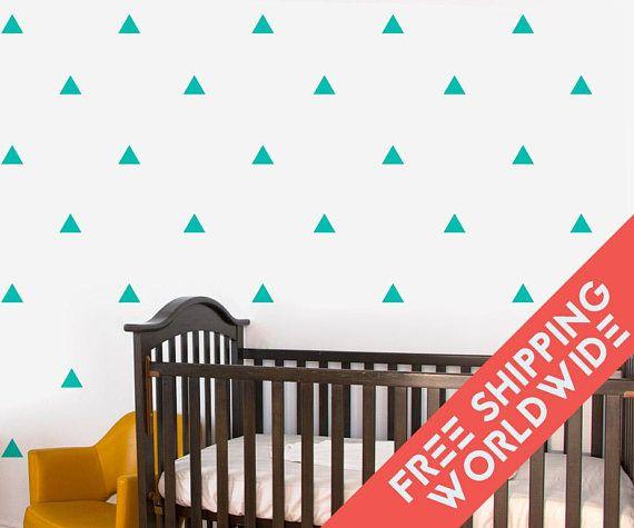 Triangle Baby Mint Green Wall Decals Decor Stickers Nursery Boy