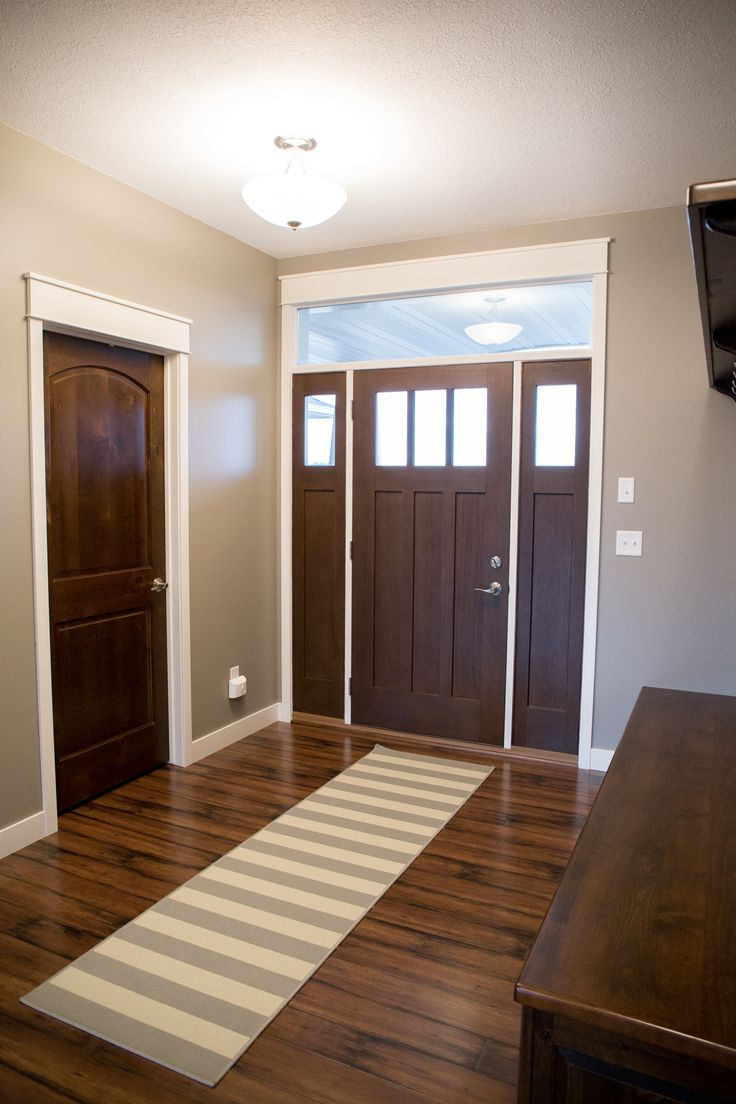 Exterior Doors | craftsman entry with double sidelites, pre-finished malbec | Bayer Built Woodworks, Inc.