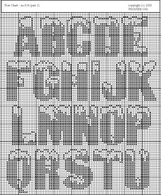 Knitting Pattern Block Letters : 28 best block letters grid images on Pinterest Cross ...
