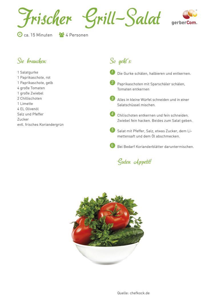 #grillsalat #salat #rezept #doityourself #sommer #grillen #beilage