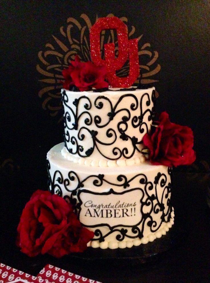 Ou Sooner Cake Of Oklahoma Graduation Cakecool Cakes