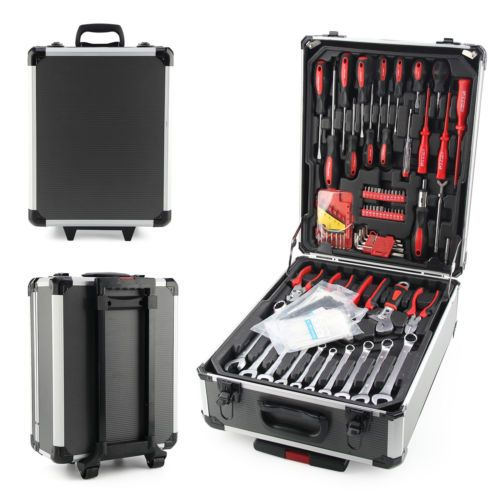 466 pcs aluminium #metal tool box with #tools kit #storage mobile trolley on whee,  View more on the LINK: http://www.zeppy.io/product/gb/2/401025322927/