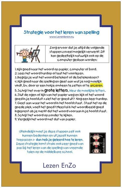 Strategie van het leren van spelling