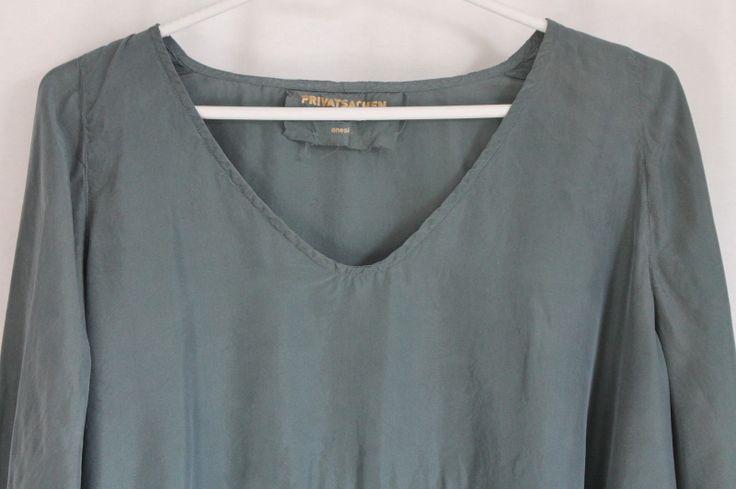 cocon.commerz PRIVATSACHEN URFASSUNG Tunika aus Wäscheseide in grau Größe 2   PRIVATSACHEN ...........seide silk leinen linen ecotton sustainable clothes since 30 years ......best of,,,,,,,,,handgefärbt aus hamburg