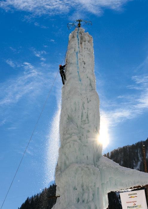 Arrampicate sul ghiaccio in Val Passiria (vicino a Merano)