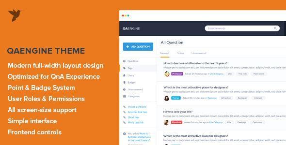 ThemeForest - QAEngine - Question and Answer WordPress Theme  Free Download