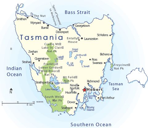 Camping road trip around Tasmania