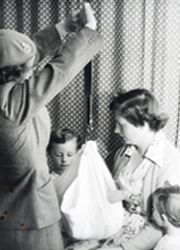 Plunket's early years - nurses at the Karitane Home for Babies in Dunedin.