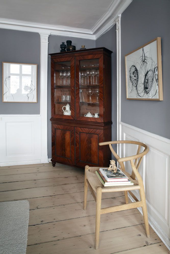 17 best images about dado rail on pinterest grey walls for Black furniture with grey walls
