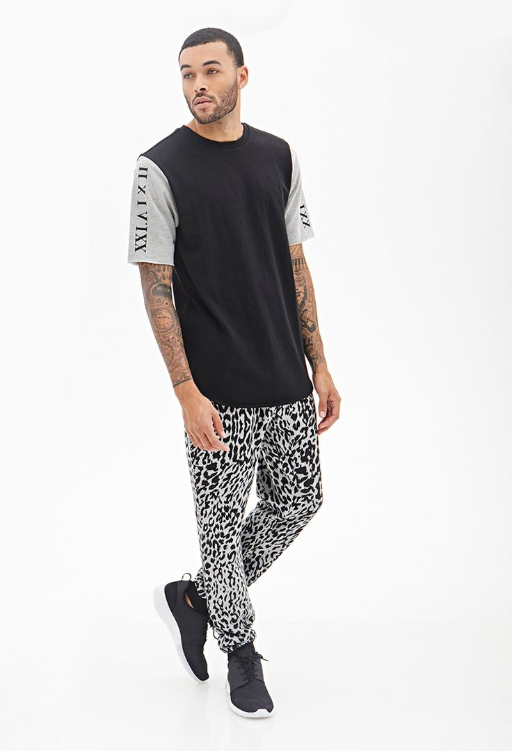 Leopard Print Knit Sweatpants #21Men