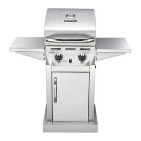 The perfect small grill...  Char-Broil Stainless 2-Burner (20000-Btu) Liquid Propane Gas Grill
