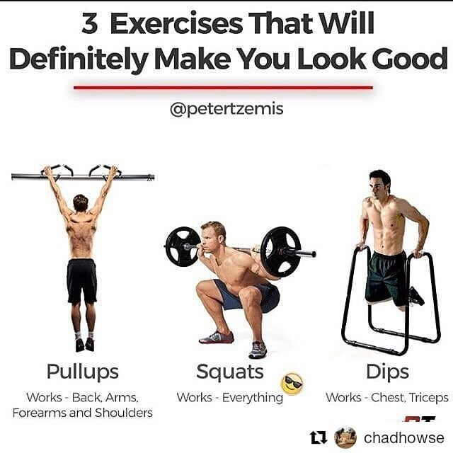 "#Repost @chadhowse (@get_repost)  Agreed. Do these 3 exercises and you will look great by  @petertzemis  Pullups are one of the most straightforward exercises  pull your body up to a bar and then lower yourself back down. If you've ever tried to do one however you know that their straightforwardness is exceeded by their intensity. It takes strength both physical and mental to perform pullups. Some have even called them the ""toughest exercise ever."" Although they're tough and may still evoke…"