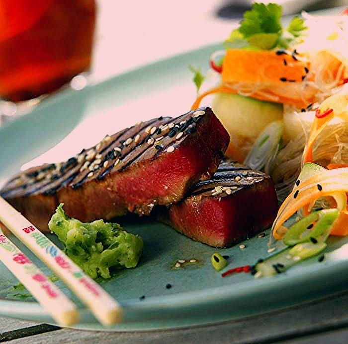 grillad tonfisk sås