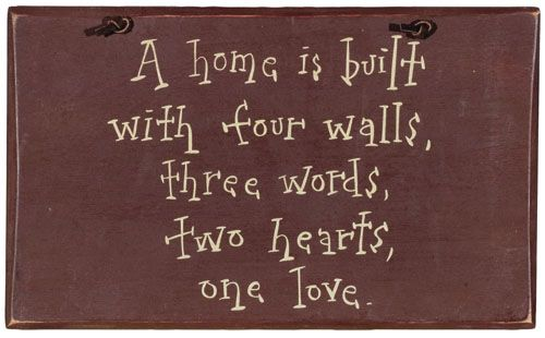 Sayings For Home Decor With Simple Sayings Are Painted Wood With