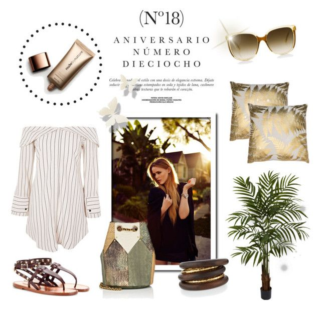 """""""Garden Party"""" by laurenleigh-bee ❤ liked on Polyvore featuring Sinclair, Topshop, Nearly Natural, Nude by Nature, NEST Jewelry, Steven Alan and Jérôme Dreyfuss"""