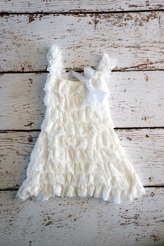 Lace Baby Dress  White Dress  Girls Dress  by PoshPeanutKids, $30.00