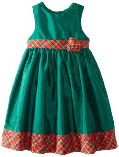 Laura Ashley London Girls 2-6X Green Holiday Dress