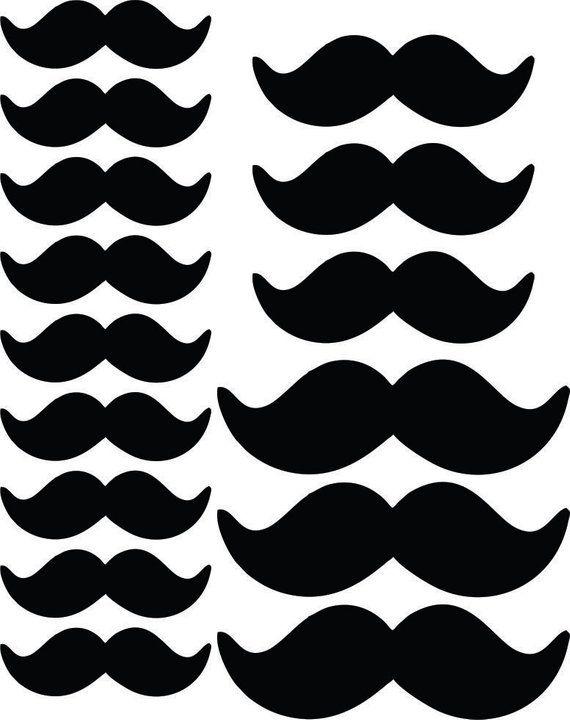 Multi Size Black Mustache Print And Cut Prop Little