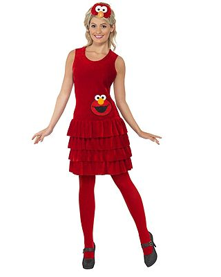 Sesamstraat Elmo jurkje voor dames. Dit roodgekleurde jurkje is gebaseerd op Sesamstraats Elmo. Het Elmo kostuum voor dames bestaat uit een jurkje en hoofdband met het hoofd van Elmo. Carnavalskleding 2015 #carnaval